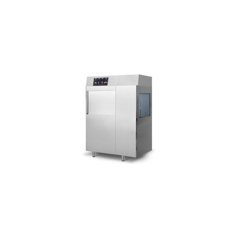 GASTROMASTRO ITALIE Lave-vaisselle à avancement automatique - 500 x 500 - Avec pompe de nettoyage
