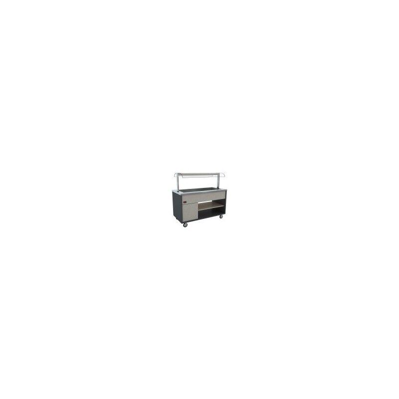 GASTROMASTRO GMBH Buffet chauffant (Capacité 5 x GN 1/1)