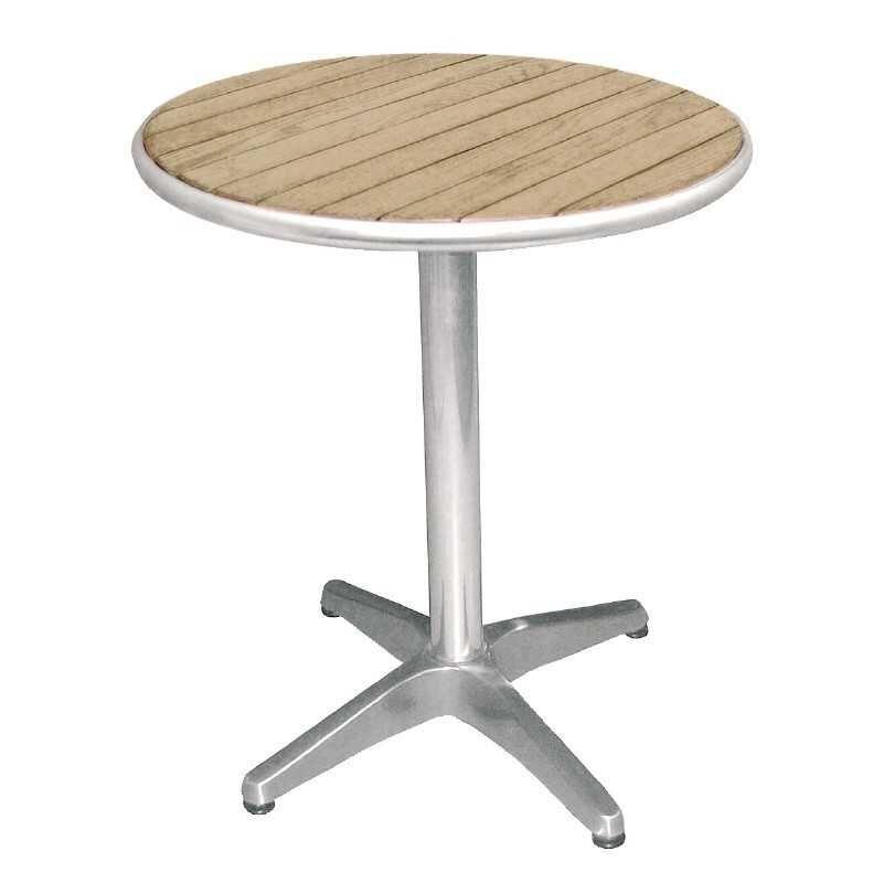 Table ronde en frêne sur pieds