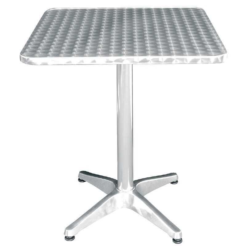 Table carrée Bistro sur pieds basculante