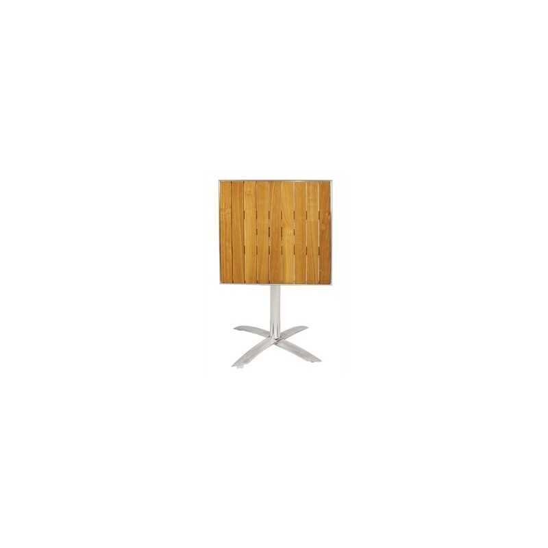 Table carrée en plateau frêne pliable
