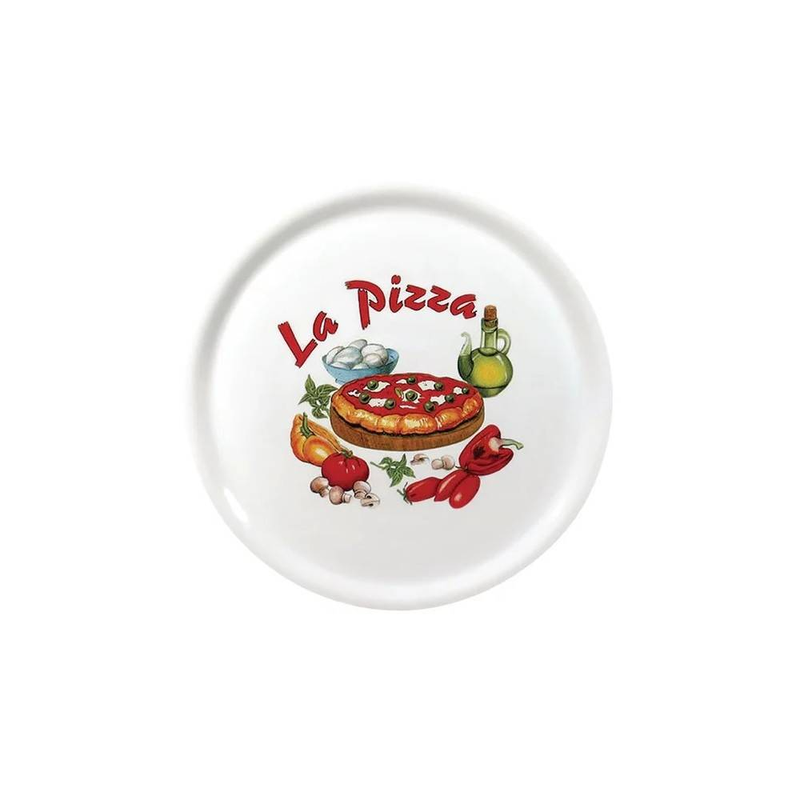 GASTROMASTRO Assiettes à pizza - Saturnia décor La Pizza - Lot de 6 - Ø 310 mm