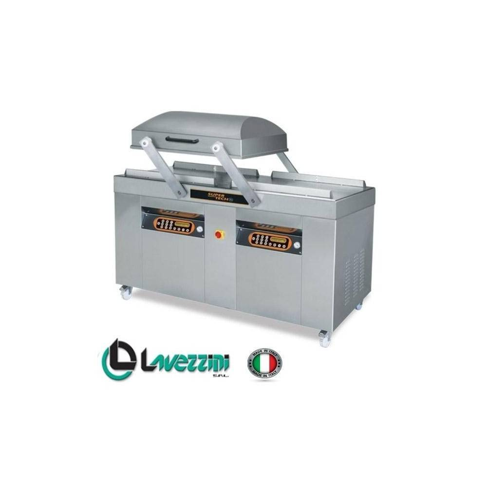 GASTROMASTRO Machine sous-vide - Industrielle - 4 x 800 mm - LAVEZZINI - Super-tech SUPERMEGA