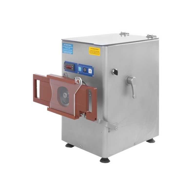 GASTROMASTRO Hachoir à viande réfrigéré - PREMIUM - Usage intensif - 500 kg / heure - 230 / 380 V. - Reconstitueur intégré