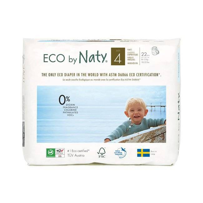 Culottes d'apprentissage jetables �cologiques Naty by Nature Babycare. Taille 4 (8-15 kg). 22 culottes. Naty 22 Culottes Taille 4 - 8/15kg