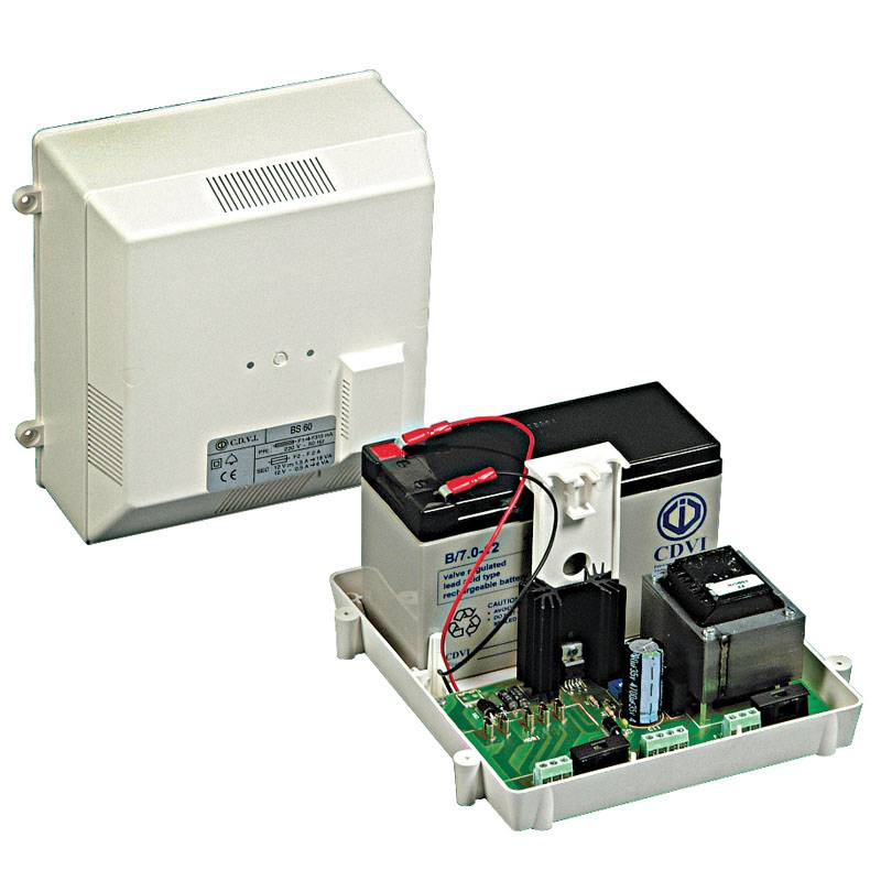CDVI-BS60 Alimentation secourue 12 V