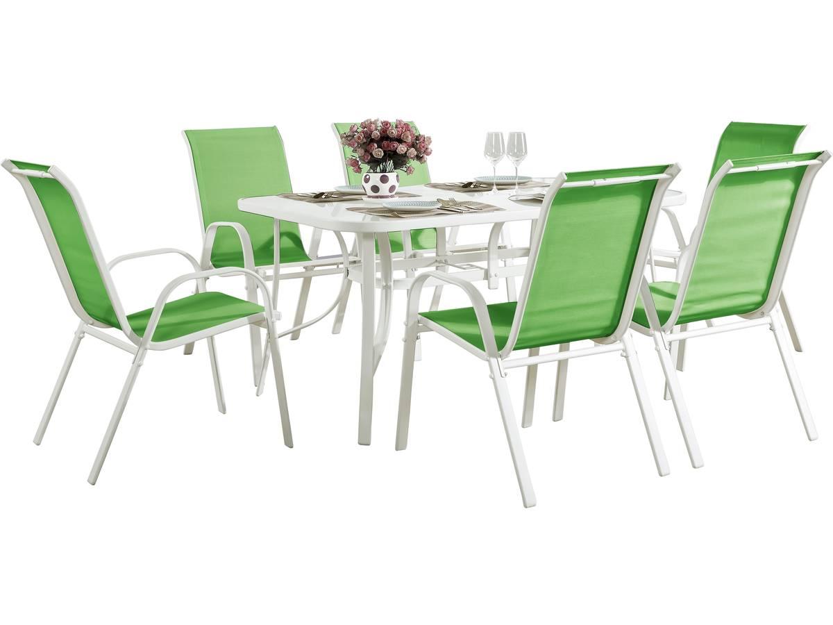 Habitat et Jardin Salon de jardin en textilène Cordoba - Phoenix - Vert