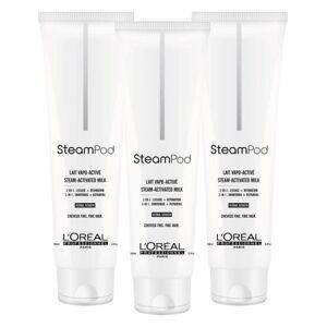 L'Oreal Professionnel Lot de 3 Laits de Lissage Steampod Cheveux Fins 150ml - Publicité
