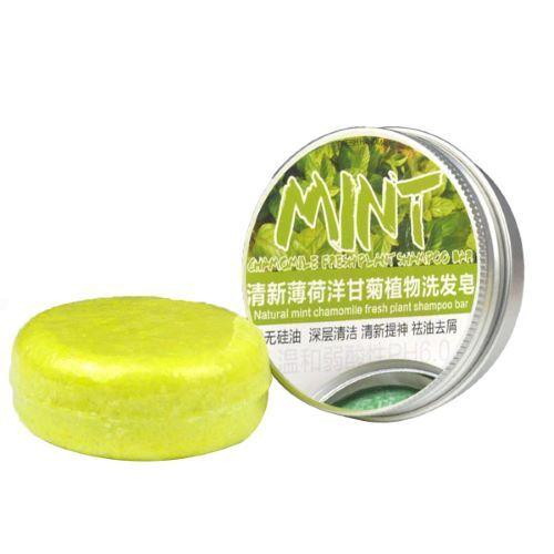FRESH PLANT SHAMPOO Shampoing Solide Menthe - Fortifiant, Frais, Anti-casse