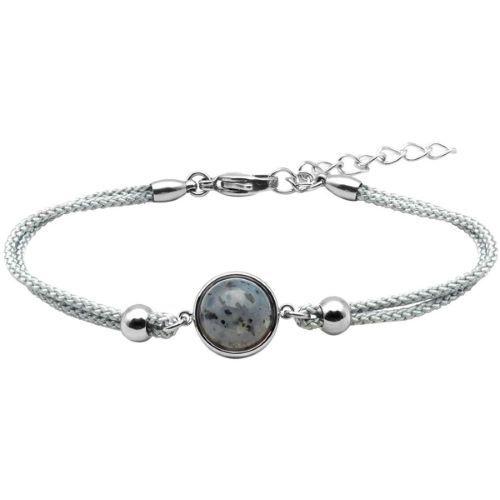 Bijoux Bracelet Coton Cabochon Jaspe Sesame - LABISE