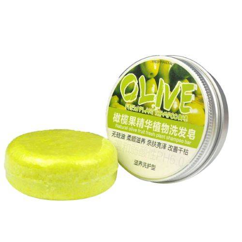 FRESH PLANT SHAMPOO Shampoing Solide Olive - Hydratant, Réparateur