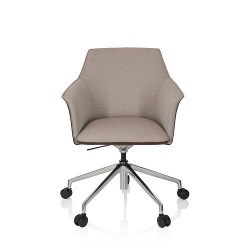 hjh OFFICE AREZZO - Siège de direction de qualité professionnelle beige / marron