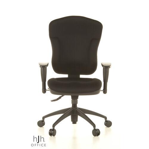 Topstar WELLPOINT 30 K2 - Siège de bureau de qualité professionnelle noir tissu