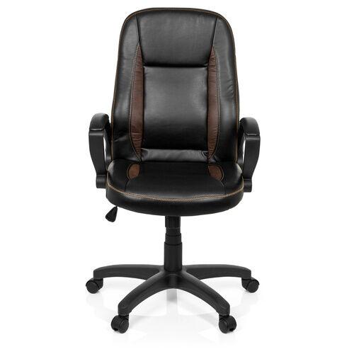 hjh OFFICE VINTAGE - Siège de bureau à domicile noir / marron