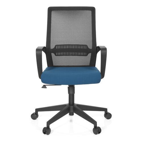 hjh OFFICE PRESTON - Siège de bureau à domicile Noir / Bleu