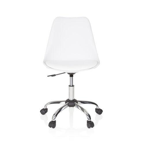 hjh OFFICE FANCY PRO - Siège de bureau à domicile Blanc