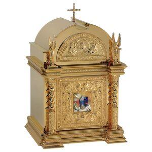 Tabernacle Molina style Renaissance Immaculée Conception laiton doré 76x51x56 cm - Publicité