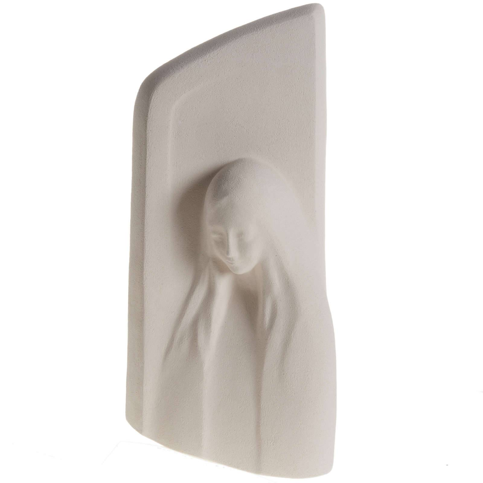 Cadre argile blanche Notre Dame de l'écoute 31 cm