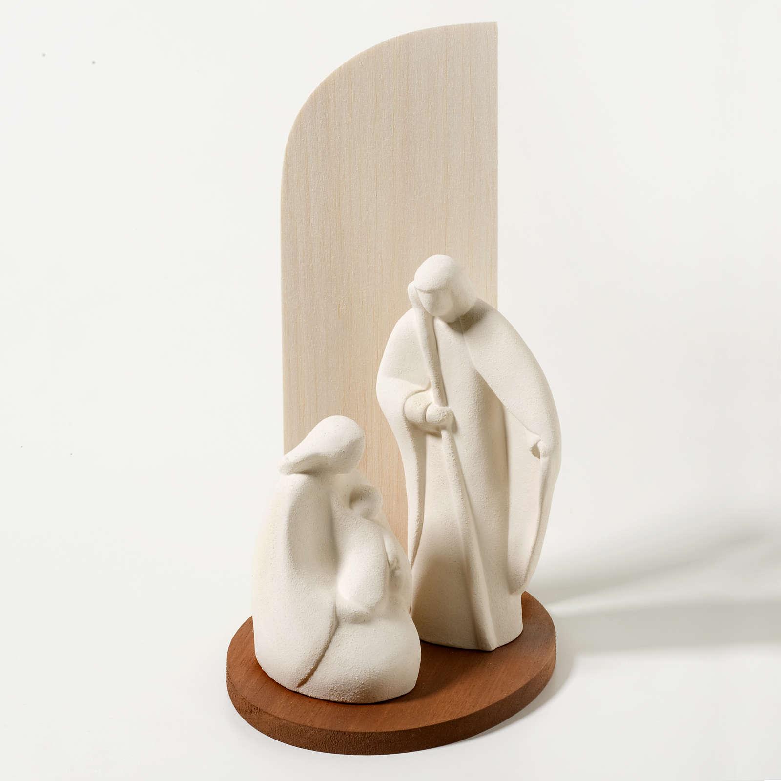 Nativité noel argile réfractaire bois naturel 28 c
