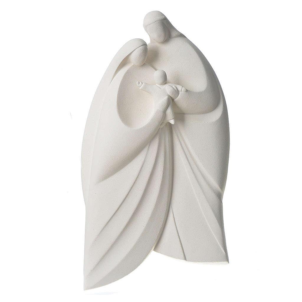 Sainte Famille argile blanche modèle Lis 39 cm