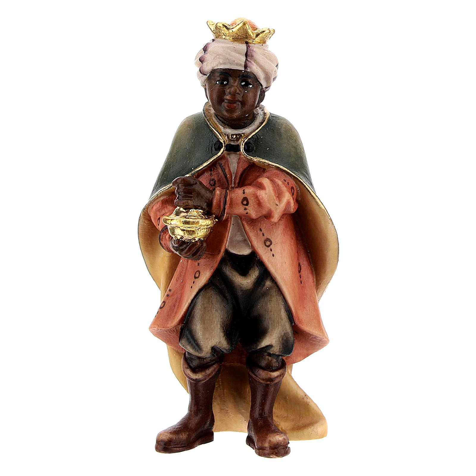 Jeune chanteur meure crèche Original bois peint Val Gardena 10 cm