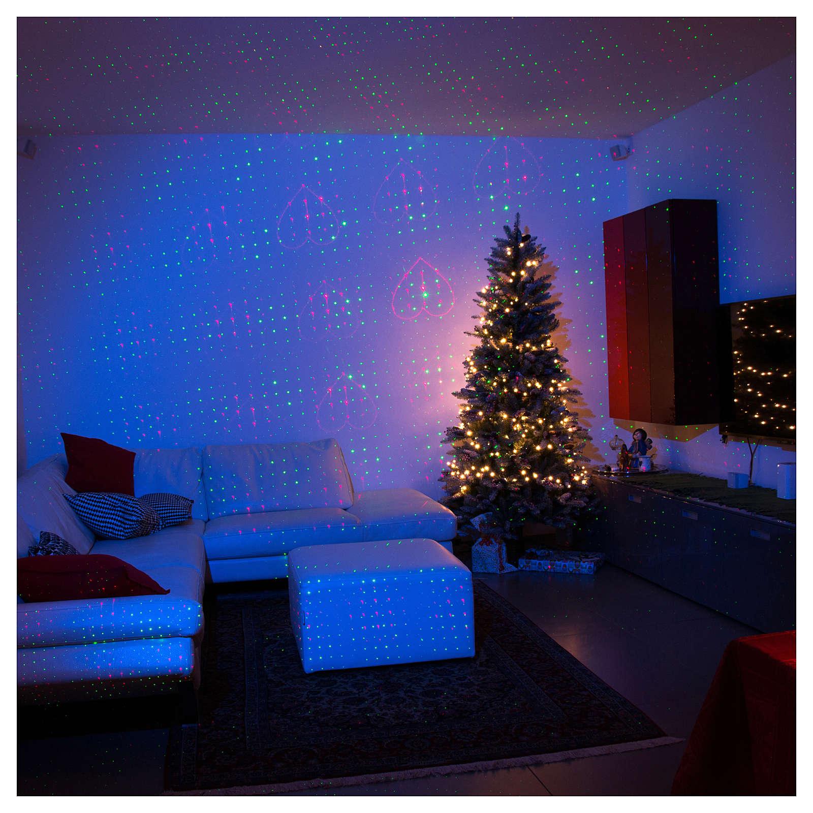 Projecteur laser éclairage de Noël couleur or thème coeurs pour intérieur