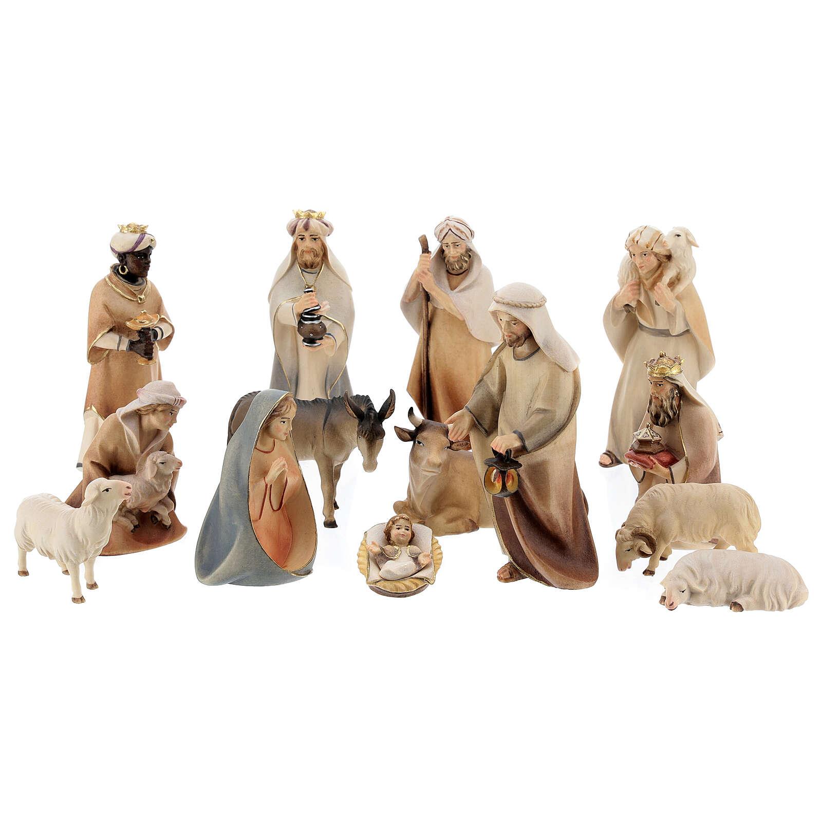 Crèche Original Cometa 14 figurines 12 cm bois Val Gardena