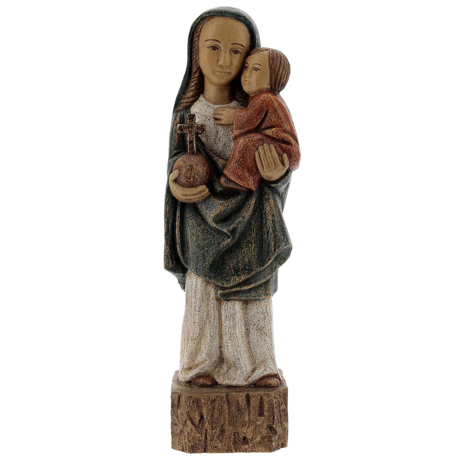 Vierge Espagnole 27 cm en bois peint Bethléem