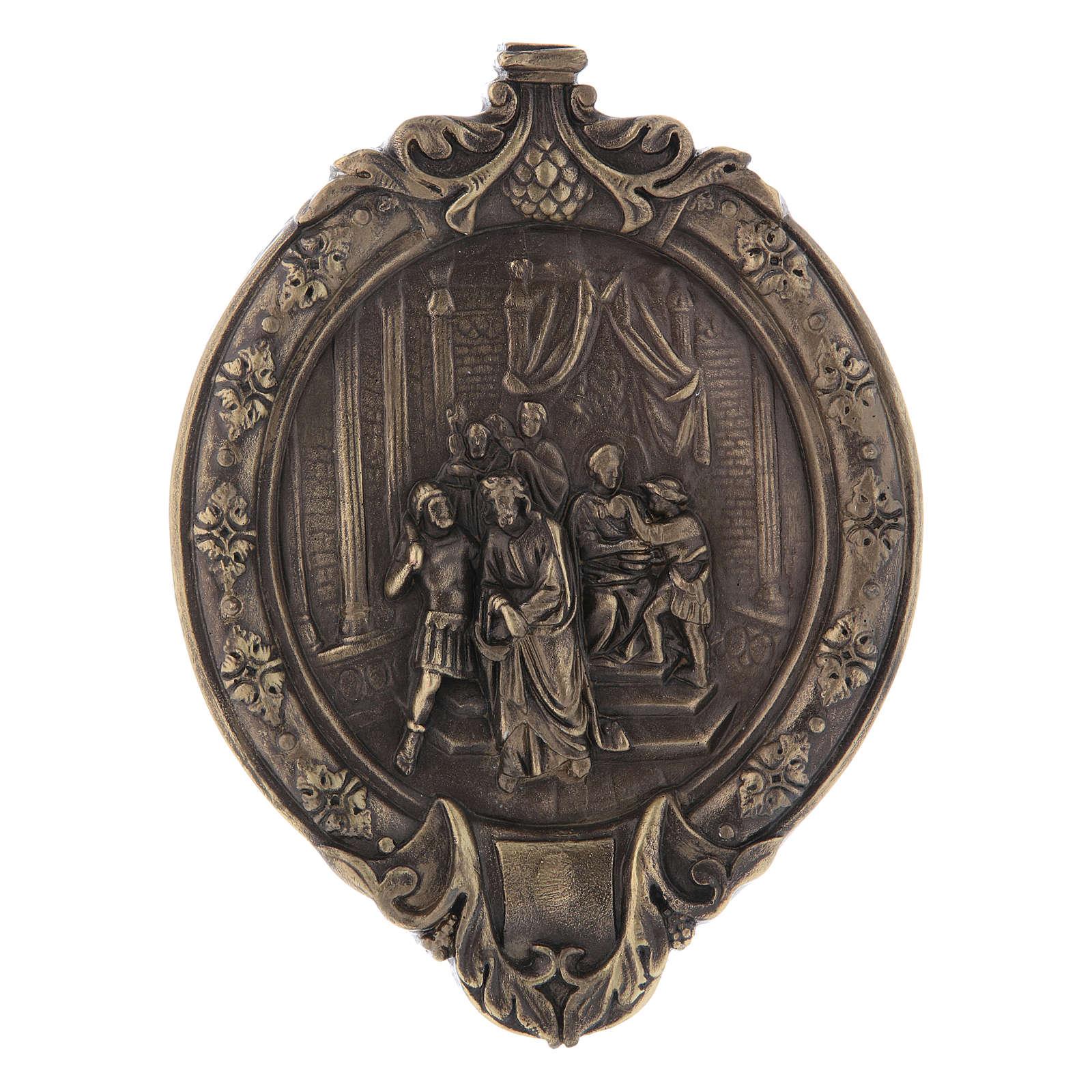 Chemin de Croix pâte à bois en bain de bronze