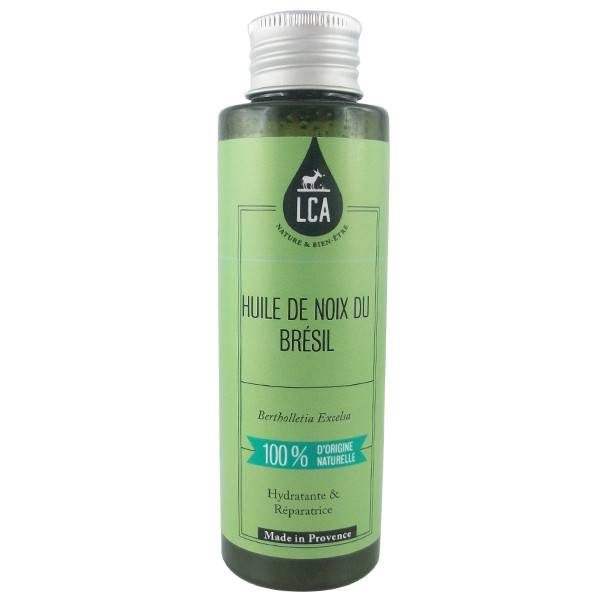 LCA - Combe d'Ase Huile de Noix du Brésil Bio 100 ml - Hydratante et anti-fourches