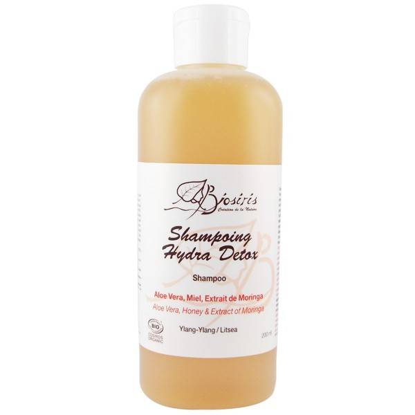 Biosiris Shampoing Hydra-Détox 200 ml - Aloe vera et Moringa