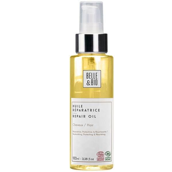 Belle et Bio Huile capillaire aux 6 huiles végétales bio 100 ml - Réparatrice et Fortifiante