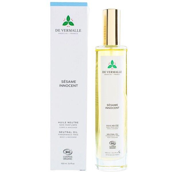 de Vermalle Huile neutre 100 ml non parfumée - Corps et Massage
