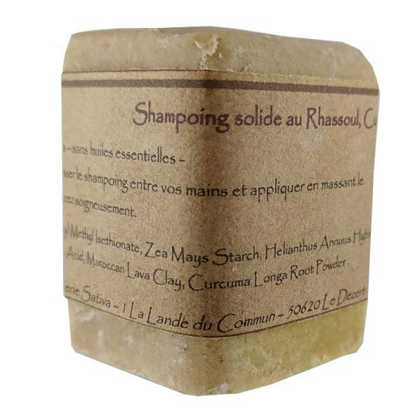 Savonnerie Sativa Shampoing solide Cheveux Fragiles 55 gr - Sans huile essentielle