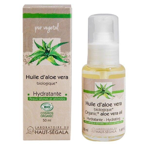 Laboratoire du Haut Ségala Huile Aloe Véra Bio Hydratante 100% Pure 50 ml - Visage et Cheveux
