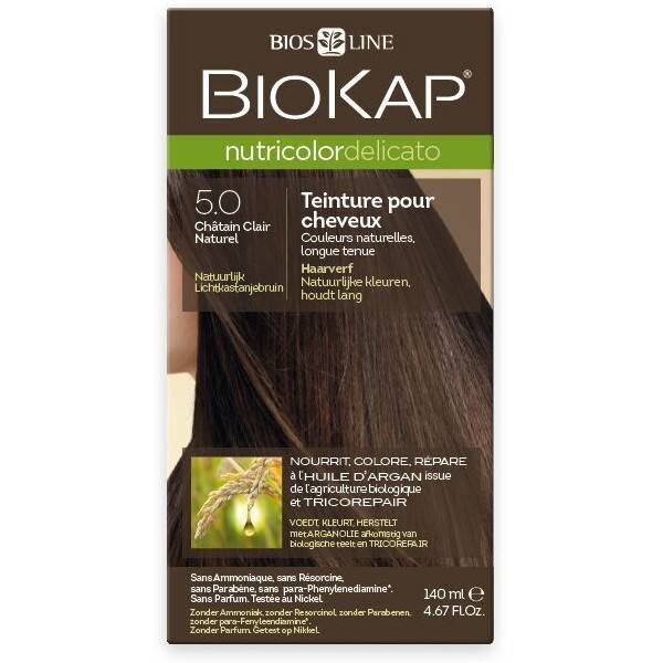 Biokap Coloration 5.0 Châtain Clair Naturel - Delicato
