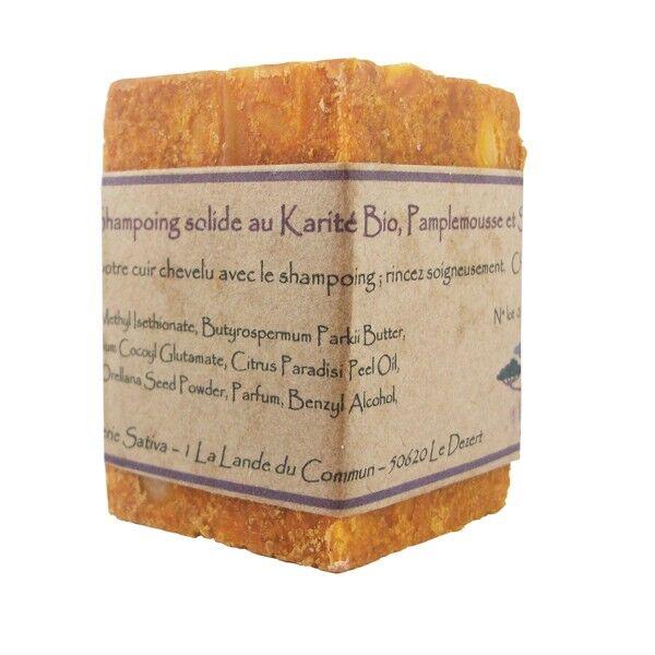 Savonnerie Sativa Shampoing solide Cheveux Secs 55 gr - Shikakaï Bio