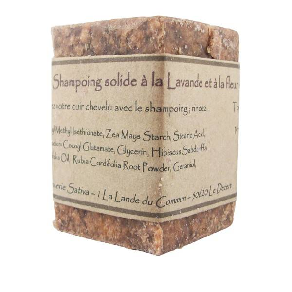Savonnerie Sativa Shampoing solide Cheveux Normaux 55 gr - Hibiscus Bio