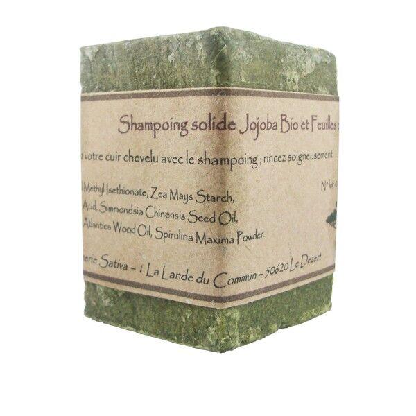 Savonnerie Sativa Shampoing solide Cheveux Gras 55 gr - Ortie Bio et Spiruline