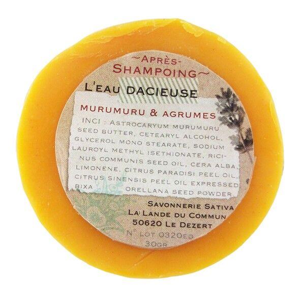Savonnerie Sativa Après-shampoing solide 30 gr - Réparateur et Hydratant