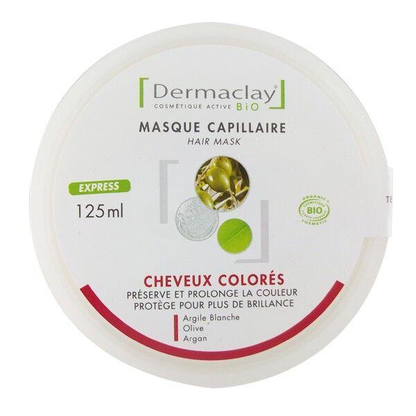 Dermaclay Masque Capillaire Cheveux Colorés, décolorés et Méchés - 125ml