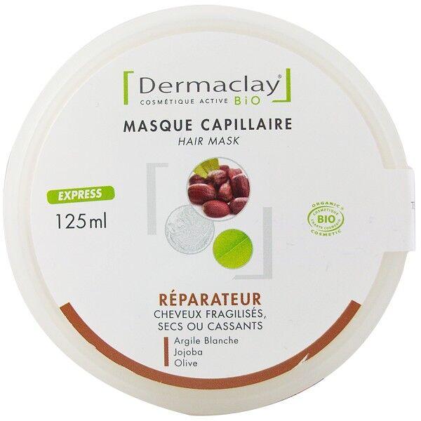 Dermaclay Masque Capillaire Réparateur 125 ml - Cheveux fragilisés, secs ou cassants