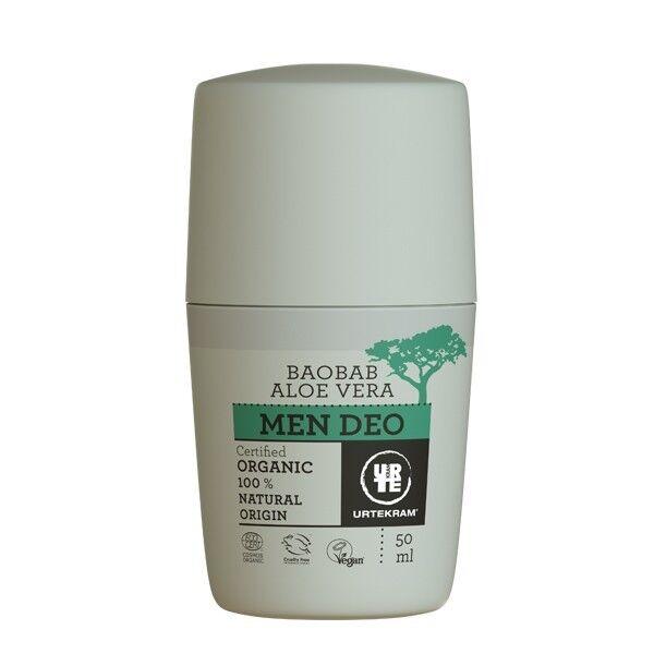 Urtekram Déo Bille Homme Aloe vera et Baobab 50 ml