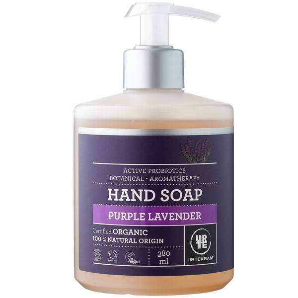 Urtekram Savon liquide Mains Lavande Purple 380 ml - Mains sèches