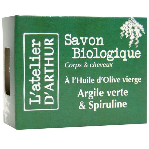 L'Atelier d'Arthur Savon Argile verte et Spiruline 100gr – Corps et Cheveux