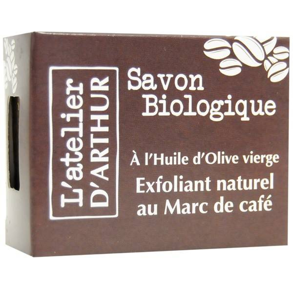 L'Atelier d'Arthur Savon Exfoliant Marc de Café 100gr – Anti-cellulite et Circulatoire