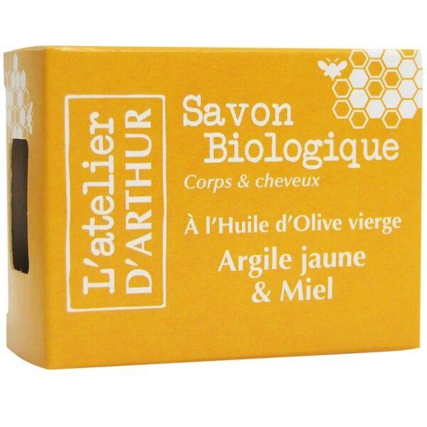 L'Atelier d'Arthur Savon Argile jaune et Miel 100gr – Corps et cheveux