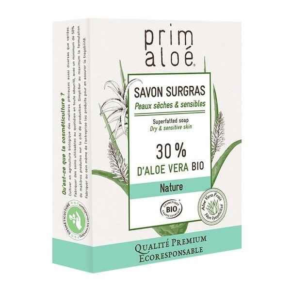 Prim aloé Savon Surgras 30% Aloe Vera 100g - Peaux sèches et sensibles