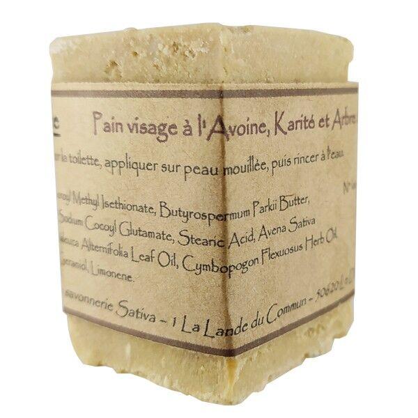 Savonnerie Sativa Pain nettoyant visage sans savon 60 gr - Tea tree