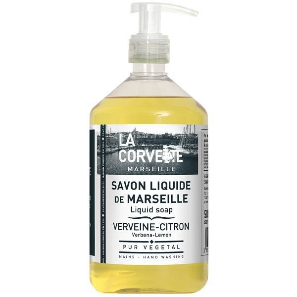 La Corvette - Savon de Marseille Savon de marseille liquide 500 ml - Verveine et Citron